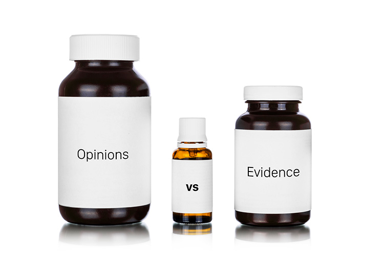 Opinions vs Evidence with Multivitamins
